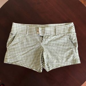 Lacoste gingham shorts